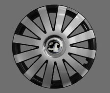4x13'' Wheel trims Hub caps fit Vauxhall Corsa Agila Tigra - silver black 13''