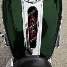 Custom Gas Tank Dash Console Insert for 10-15 Harley ROAD GLIDE - PIN STRIPE