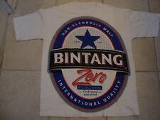 Bintang Beer Non-Alcoholic Malt Drink Logo White Cotton T Shirt Size L