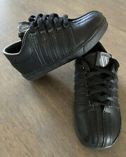 K-Swiss Infant & Toddler Classic Leather Black Low Cut Shoes Size 7