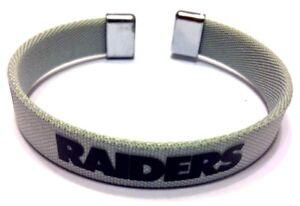NFL Oakland Raiders Wrist Band Bracelet Official Licensed