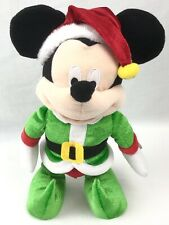 """Mickey Mouse Christmas Elf Singing """"Deck the Halls"""" &  Dancing Plush 12"""" Tall"""
