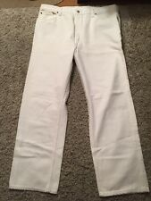 Levis 501 Vintage Button Fly Red Tab White Jeans Mens 42x30