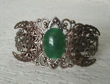 Copper Triple Moon Cuff Bracelet, wiccan pagan wicca witch witchcraft goddess