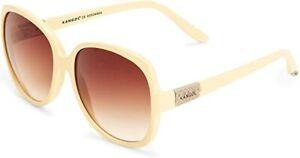 Kangol KS6009-2 6023 Oversized Women's Beige Sunglasses Brown Gradient Lenses