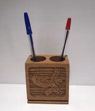 Vintage Laserform Laser Engraved Pen and Pencil Holder Eagle Landing #94541