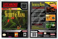 Secret of Mana - Super Nintendo SNES Custom Case *NO GAME*