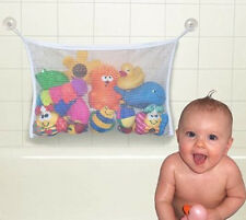 Bathroom Baby Kids Bathing Toy Tidy Storage Suction Cup Bag Mesh Net