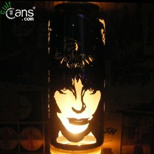 Elvira Beer Can Lantern! Pop Art Candle Lamp, Goth, Horror