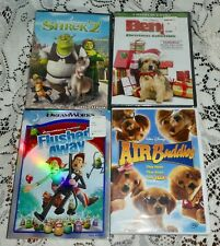 Family DVDs Shrek2 Flushed Away Air Buddies Benji's Christmas 4 Movie Collection