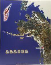 Alaska Juneau Aerial Satellite Map Photo Poster