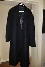 Mens Winter Formal Trench Coat Single Breasted Overcoat Long Wool Jacket Outwear