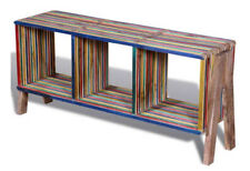 Vintage TV Cabinet Stand Retro Style Media Storage Unit Wooden Rustic Furniture