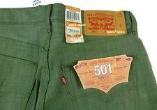 $100 Mens LEVIS Classic 501 SHRINK TO FIT 31 x 31 GREEN RIGID Oak Cone denim