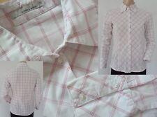 More & More Bluse Hemdbluse Girls Langarm figurbetont rot/weiss kariert S 36 1A
