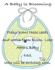 Baby Shower Seed Packets Favors Blue Elephant Set of 30