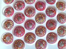 6 X 12mm Orange AB Glue On  Sew-on Acrylic Crystal Embroidery f46795308650