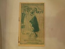 "Antique Faultless Starch Booklet  ""The Lunch Party"", vol 31, 16 pages"