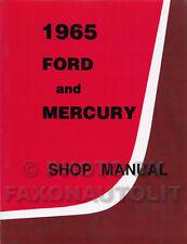 1965 Ford Galaxie and LTD Mercury Shop Manual 65 Monterey Montclair Parklane