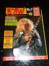 RAW - No 17 - Date 19/04/1989 - UK Music Magazine