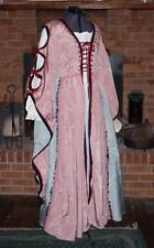 Mauve & Blue Taffeta Renaissance Gown, 2 piece, appox size 12, FS04c