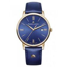 Relojes de pulsera Date de oro de cuero