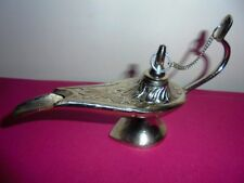 Rare Aladdin Genie Oil Lamp Brass Vtg Incense Burner Home decor Christmas Gift
