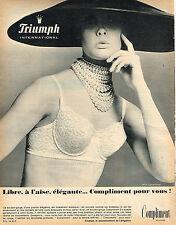 PUBLICITE ADVERTISING 015  1965  TRIUMPH  soutien gorge  COMPLIMENT