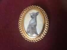 Chihuahua a Vintage Costume Brooch With an Image of a Chihuahua Dog