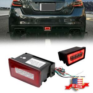 Red LED Rear Fog Light, Brake Backup Reverse Lamp Kit For 15-21 Subaru WRX STi