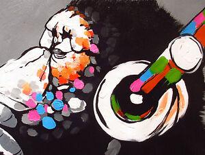 Canvas Street Art Print DJ MONKEY chimp Painting A0
