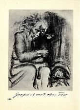 Die deutsche Künstlerin Käthe Kollwitz Gespräch mit dem Tod / Selbstbild v.1930