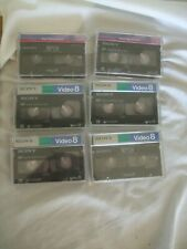 New listing Lot of 6 - Sony 8mm Mp120 & Video 8 Cassette Tapes P6-120Mp