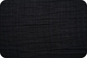 Shannon Fabrics Embrace Double Gauze - Black Solid - by the yard