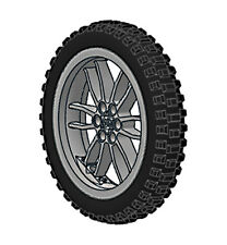 Lego XL MOTOCROSS Tire + Wheel (technic,bike,cycle,bicycle,trial,motorcycle,car)