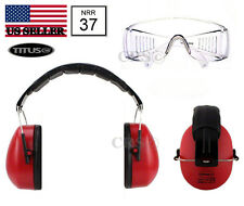 Shooting Range Earmuff Hearing Noise Reduction Ear Protection RX Glasses 37 Nrr