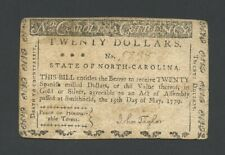 More details for united states $20 1779 north carolina nc-185 colonial currency banknotes