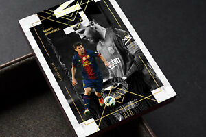 Lionel Messi Barcelona FC 8/10 Unbranded Soccer Gold Card with 3D AR Function