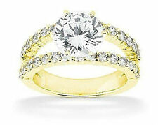 1.21 ct center Round Natural Diamond Engagement Wedding 14k Yellow Gold Ring SI1