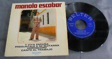 """MANOLO ESCOBAR -Y VIVA ESPAÑA / HOROSCOPO- SPANISH 7"""" EP PS FOLK"""