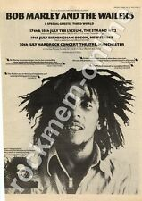 Bob Marley & the Wailers Hardrock Theatre, Manchester MM5 Tour Advert 1975