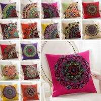 "Throw Decorative Cotton Cover Embroidery Case Cushion Vintage Boho Pillow 18"""