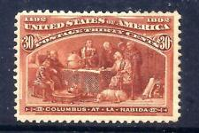 US Stamps - #239 - MH - 30 cent 1893 Columbian Expo Issue - CV  $225