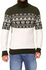 Herren-Pullover mit Rollkragen Norweger-Muster