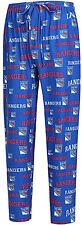 New York Rangers Mens Nhl Blue Fairway Pajama Lounge Pants