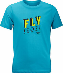Fly Racing Youth Fly Dimensions Tee Turquoise Ym 352-1105Ym