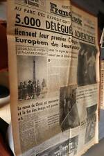 tolle alte Zeitung Spezial Ausgabe der France-soir -  30 Juli 1951