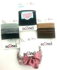 Scunci Hair Elastics and Scrunchies Lot of 4 New with Packages