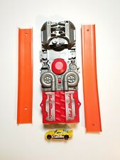 2018 Mattel Hot Wheels Track Power Booster Motorized Launcher Grey & Red Tested