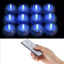 12 BLUE Submersible floralyte vase tea light w/ REMOTE for wedding centerpiece